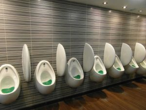 cleaned washroom urinal area